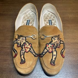 Nine West Suede Tiger Slipper Shoes - 8.5